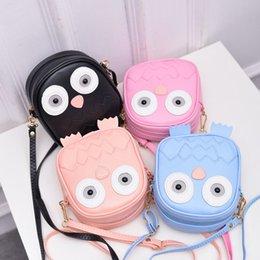 Owl Ladies Handbag Australia - Children Cute Purse Handbag Owl Women Messenger Bags Summer Crossbody Shoulder Bag with Belt Strap Lady Clutch Purses girl cute bags