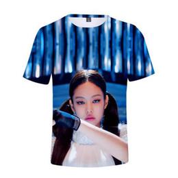 Woman Fans Australia - Korean Superstar Blackpink 3D T-shirt men women music fans t shirt male Blackpink Casual Print short-sleeved 2019 New Fans Top