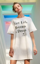 T Shirts Models Australia - 2015 Letter Print Leisure Long T-shirt mini club Dress casual woman plus models for women white sale dressed dresses designer clothes