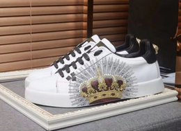 Metal Sneakers Australia - High-end custom metal studded spikes casual shoes 2019 new for men and women low top sneakers with soft bottom,genuine leather size:889601