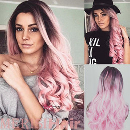 $enCountryForm.capitalKeyWord Australia - Wig Ladies Long Curly Hair Long Straight Hair Gradual Cost Colour Wigs