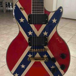 $enCountryForm.capitalKeyWord UK - Custom Shop ZAKK WYLDE REBEL FLAG 04 VOS Signature Electric Guitar Black Speed Knobs, Gold Grover Tuilp Tuners , EMG Pickups