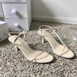 a0e0a307cf81 OOTD Women Designer Sandals Summer Bare Leather Sandals Slender Straps Soft  Sandal 65Mm Elegant High Heels Dress Shoes Party Shoes With Box