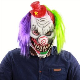 $enCountryForm.capitalKeyWord NZ - Funny Scary Evil Clown Mask Latex Rubber Mask Halloween Costume Clown Mask With Hair for Adults Cosplay Facncy dress up