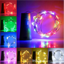 Starry String Lights Wholesale Australia - Super Shine Party 8 Colors 2M 20Led Wine Bottle Cork RGB LED Spark Starry String Light Lamp Party Indoor Outdoor Decoration c201