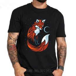 Long taiL t shirts online shopping - 2019 Summer T Shirt Tribal Fox Long Tail Men s Tshirt Clothes O Neck Fitness Short Sleeve T Shirt Men Hip Hop T Shirt