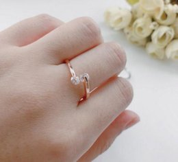 rose gold cluster engagement rings Australia - 2020 Engagement Wedding Ring For Women Classic Elegant Twin Cubic Zirconia Rose Gold Color Fashion Jewelry Gift ZYR007