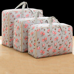 Storage Beds Australia - 3Pcs set Clothes Quilt Storage Bag Oxford Cloth Closet Organizer For Bedding Blanket Pillow Container Tidy Luggage Packing Bag