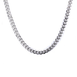 Men 7mm Silver Chains UK - 7mm Silver Color Fashion Simple Men's Stainless Steel Link Chain Necklace Jewelry Gift for Men Boys J142
