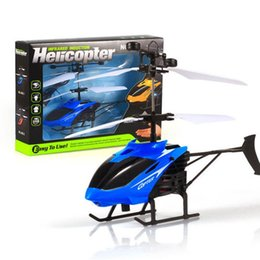 flashing helicopter toy Australia - Infrared Sensor Helicopter Aircraft 3D Gyro Helicoptero Electric Micro 2 Channel Helicopter Toy Gift for Kids