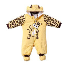 Baby Winter Suit Overalls NZ - Winter Baby Rompers Boy Girl Hat Jumpsuit Shoes Sets Down Coat Baby Clothes Layette Kids Suit Newborn Overalls Clothing Parkas J190524