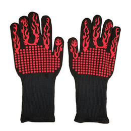 $enCountryForm.capitalKeyWord Australia - Extreme Heat Resistant Silicone Glove Outdoor Cooking Kitchen Barbecue Thick Oven Gloves BBQ Grill Long Glove For Extra Forearm Protection