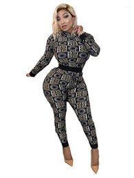 digital print jumpsuit NZ - Jumpsuit Casual Apparel Digital Printed Female 2pcs Pants Spring Autumn Sports Set With Hoodie Women