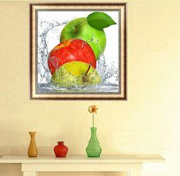 $enCountryForm.capitalKeyWord Australia - Green Red & Yellow 3 Apples Fruit DIY 5D Diamond Stitch Round 3D Diamond Stitch Tools Kit Diamond Mosaic Room Decor