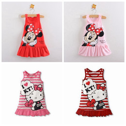$enCountryForm.capitalKeyWord NZ - Girls Dress Kids Girls Clothes Cute Hello Kitty Cartoon Pattern Baby Girl Princess Dress Kids Dresses For Vestido