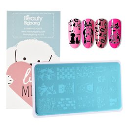 $enCountryForm.capitalKeyWord Australia - BeautyBigBang Nail Stamping Plates Pet Cat Dog Design Pattern Nail Template Plate Rectangle Stencil Stamp BBB XL-013