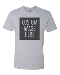 Print Photos T Shirts Australia - Custom T-Shirt with Your Photo | Text | Logo | Cheap Custom T-shirts - GrayFunny free shipping Unisex Casual Tshirt top