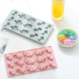 $enCountryForm.capitalKeyWord Australia - Non-stick 15 in 1 dinosaur silicone chocolate candy mold ice cube trays cupcake gummies soap butter molds