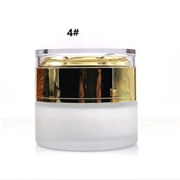 frosted cream jar cap Australia - 300pcs 30g frosted glass cream jar empty bottles cosmetic container with aluminum cap