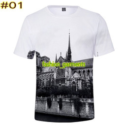 b4f2f331402 Blue shirts online shopping - 2019 New French Notre Dame de Paris Printing  Short sleeve Summer