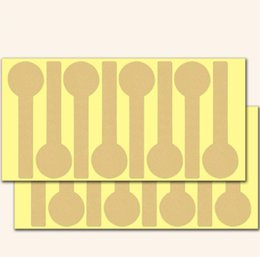$enCountryForm.capitalKeyWord Australia - 2000pcs lot multi blank kraft DIY gift seal sticker lollipop shape decorative adhesive sticky package label for baking whoesale