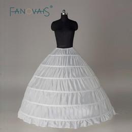 $enCountryForm.capitalKeyWord NZ - Plus Size 50s Vintage Ball Gown Petticoat For Wedding Dress White 6 Hoops Petticoat Crinoline Slip Underskirt Girl