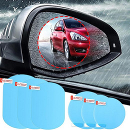 rearview mirror car sticker Canada - 2Pcs Set Anti Fog Car Rearview Mirror Film Rainproof Clear Car Sticker Accessories Protective Waterproof Film
