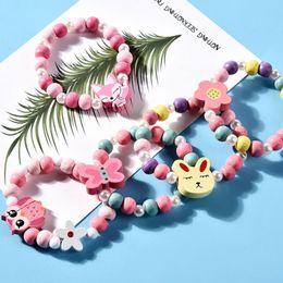 $enCountryForm.capitalKeyWord Australia - 1 Set Children Jewelry Cartoon Necklace Bracelet Kids Candy Color Girls Gifts