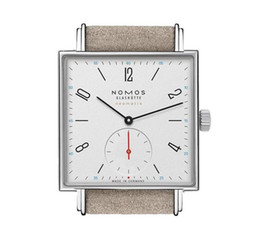 Chinese  Hot selling simple nomos ultra-thin men's belt watch Atmospheric semi-circle two-pin half Square Round quartz women Wristwatches manufacturers