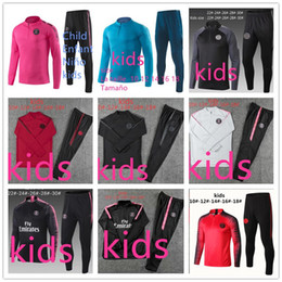 Soccer Jogging Suits NZ - new psg kids tracksuit 2019 2020 psg soccer jogging jacket mbappe POGBA 18 19 enfants child football training suit chándal