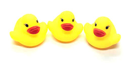 floating bath toys wholesale NZ - Mini Rubber duck bath duck PVC with sound Floating Duck Baby Bath Water Toy for Swimming Beach Gift for Kid