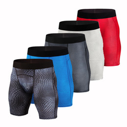 Sports Compression Shorts Australia - Gym shorts men Quick Dry Sports Leggings Crossfit Gym Shorts Soccer Underwear Jogging Compression Tights Running Short Pants