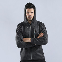 mixed color hoodie UK - Men Solid Color Hooded Jacket Long Sleeve Reflective Zipper Hoodies Casual Breathable Trainning Exercise Running GYM Sweatshirt
