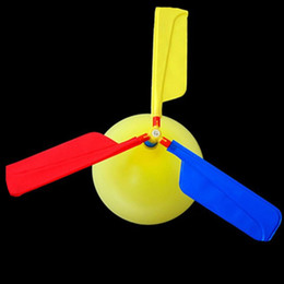 Discount flying toy helicopter planes - Balloons Plane Flying With Whistle Children Outdoor Playing Creative Funny Toy Balloon Propeller Science Education Kid H