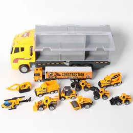 toy trucks for boys Australia - 11PCS Mini Car & Storage Truck Alloy Diecast Cars Engineering Excavator Toys Vehicles Truck Car Model Gift For Kids Boys