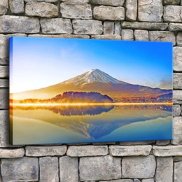 $enCountryForm.capitalKeyWord NZ - Canvas Prints Poster Home Decor 1 Piece Nature Cloud Mount Fuji Mountain Lake Painting Wall Art Modern Landscape Pictures