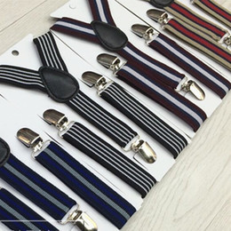 $enCountryForm.capitalKeyWord Australia - Baby Striped Suspenders 2.5*65CM Elastic Y-back 8 colors Child strap Adjustable kid braces for Clip-on Hallowmas Christmas gift free ship
