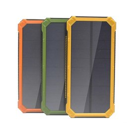 solar powered phone battery charger NZ - Portable 20000mAh Solar Power Bank Backup Battery Charger For iPhone XR XS MAX X 8 Samsung Android Phone High Quality