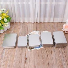 Metal Key Box Australia - NEW Delicate Small Metal Tin Silver Storage Box Case Organizer For Money Coin Candy Key Organization Storage Box