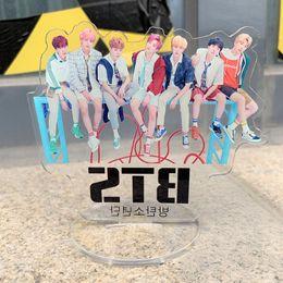 Acrylic Displays Cases Australia - KPOP BTS Bangtan Boys Album Love Yourself ARMY BT21 RM V Cartoon Statue Desktop Decoration Acrylic Plastic Cases Displays GU013