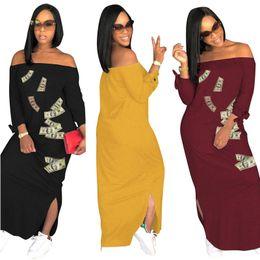 $enCountryForm.capitalKeyWord Canada - US Dollars Women Maxi Dress Off Shoulder Spring Summer Ladies Casual Dresses Party Runway Split Long Sleeve Sundress S-3XL Hotsell C42906