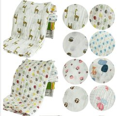 wholesale towels free shipping 2019 - Cotton Blankets Baby Muslin Blanket Swaddle Soft Newborn Baby Bath Towel Multi Functions Baby Wrap Kids Bed Sheet 74 Sty