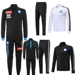 China New Napoli white black tracksuit training jacket suit 2018 2019 HAMSIK men thai quality adult Full zipper football jacket tracksuit shirt supplier thai quality jacket suppliers