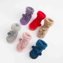 $enCountryForm.capitalKeyWord UK - Wool Ball Socks Cotton Brush Toddler Socks Kids Warm Winter Thick Baby Socks Baby Boys Girls Terry Baby Cotton