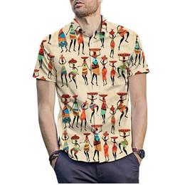 $enCountryForm.capitalKeyWord Australia - Summer Indian Style Men Shirt 2019 Fashion Hip Hop Streetwear Hawaiian 3D Shirt Casual Short Sleeve Business Social Dress Shirt