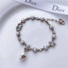 Wholesale High quality charm pearl essence bracelet female y jewelry brass inlaid crystal delicate and elegant