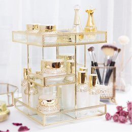 Home Care Products Australia - Rotating Cosmetic Storage Box 360-degree Brush Holder Home Makeup Jewelry Organizer Case Office Skin Care Product Storage Rack