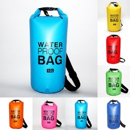 $enCountryForm.capitalKeyWord NZ - Foldable PVC Swimming Dry Bag Backpack Waterproof Hiking Outdoor Backpack Floating Bag Storage For Boating Kayaking Camping Diving M245Y