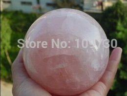 $enCountryForm.capitalKeyWord Australia - Citrine QUcrystal NATURAL free shipping Natural Rose Quartz Crystal Sphere Ball Love Healing China
