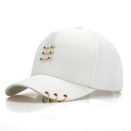 0d8879b350eb1 DeePom Women s Baseball Cap With Rings Snapback Summer Hats For Women Men  Unisex Kpop Cap Iron Ring Dad Hat Baseball Hip Hop